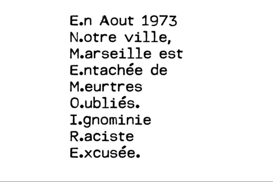 Marseille, été 73